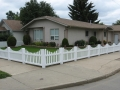 White Wide Scalloped Picket