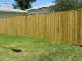 Pressure Treated Privacy with Capped Top
