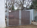 Galvanized Double Sing Gate with Brown Top Lock Slats