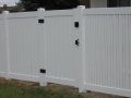 White Semi Privacy with Alternating Picket & Single Swing Gate