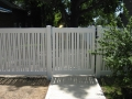Almond Alternating Picket Semi Private with Single Swing Gate
