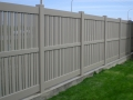 Clay 3 Rail Semi Privacy with Alternating Picket