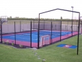 Full Color Sport Court with Batting Cage Frame